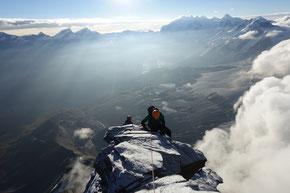 kurz unterhalb des berühmtesten «Alpen Gipfel's»