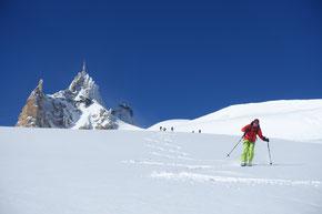 Vallée Blanche Abfahrt von der Aig. du Midi bis Chamonix