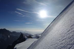 Gipfelaufschwung am Walchergrat, Gross Fiescherhorn 4049m
