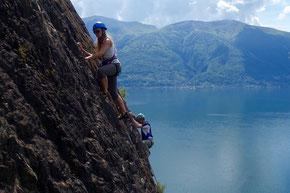 einfache Klettertouren direkt über dem Lago Maggiore