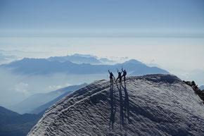 kurz unterhalb des Weisssmies Gipfels, Blick über die Pooebene
