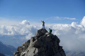 Auf dem Gipfel des Diechterhorn 3388m