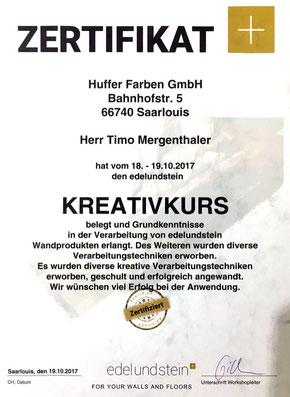 Kreative Wandgestaltung von Malerbetrieb Mergenthaler aus Illingen, Neunkirchen, Saarbrücken.