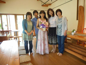 集まってくれたMiyukiさんのお友達と
