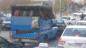 Der Esel-Express ist ein ganz normales Bild auf den Straßen in Kurdistan