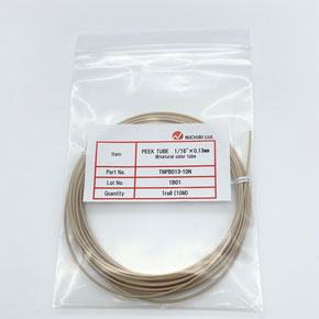 "HPLC配管用PEEKチューブ 外径1/16"" 10m/巻 内径公差±30μm 高精度PEEKチューブ 分析機器配管用PEEKチューブ"