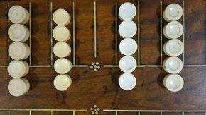 盤双六の駒4種。