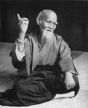 Maître Ueshiba, fondateur de l'Aïkido