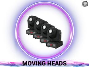 DJ, Eventtechnik, Ton, Video und Licht verleih.  Moving Heads buchen.