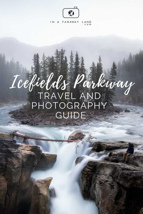 Everything you need to know about travelling along the Icefields Parkway in Canada: top photography spots, through best hikes,  accommodation options and useful travel tips.