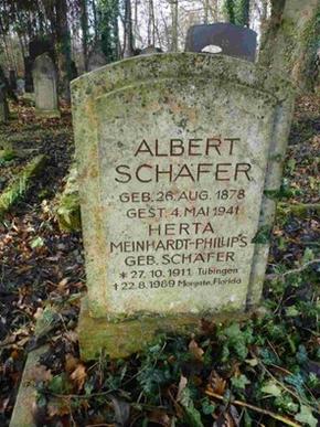 Grabstätte von Albert Schäfer, Bild: Harald Schwaderer, Verein für jüdische Kultur in Tübingen.