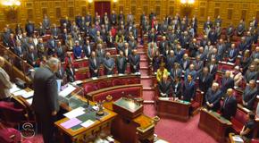 Minute de silence au Sénat le mardi 13 janvier 2015 avant la Marseillaise
