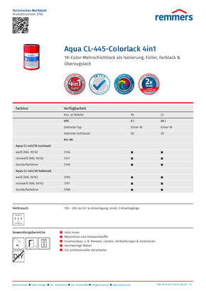 Technisches Merkblatt Farblack Holzfensterbänke