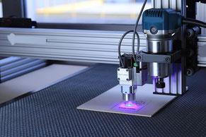 Das Fabrikationslabor – kurz FabLab – ermöglicht im Digitalum Zugang zu 3D-Drucker, Lasercutter, CNC-Maschinen etc.