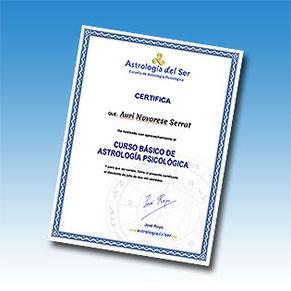 Certificado Curso Astrología Psicológica