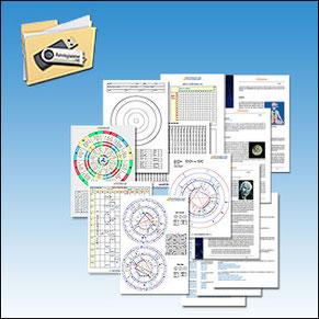 Material didáctico Curso de Astrología en pendrive