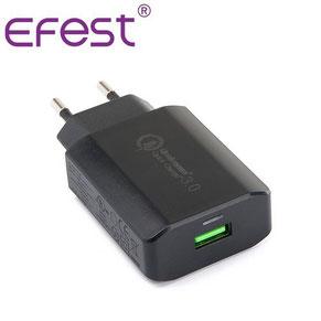 Chargeur secteur USB pour téléphone portable Efest Quick Charge