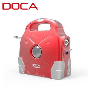 powerbank doca d-g600 75000mah rouge et gris