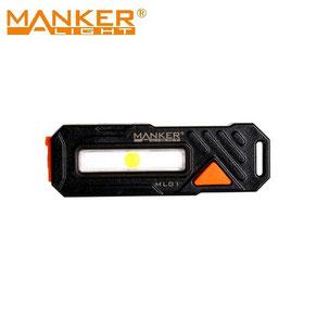 Micro lampe pour vélo arrière Manker ML01 90 Lumens rouge et bleu