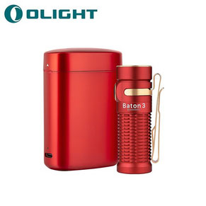 Lampe torche olight baton 3 edition premium rouge 1200 Lumens