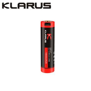 batterie klarus rechargeable micro-USB 18650 2600mAh rouge et noir