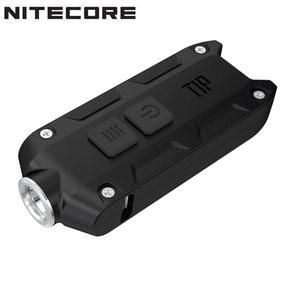 lampe porte clé nitecore tip rechargeable 360 Lumens noir gris