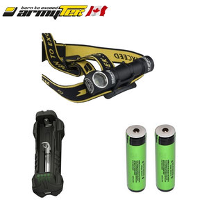 KIT ULTRA TRAIL lampe frontale armytek wizard XP-L USB 1250/1120 lumens