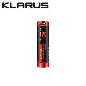 batterie klarus rechargeable micro-USB 14500 750mAh rouge et noir