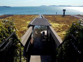 宮崎海水浴場の山側にある和カフェ・たらそ。眺望抜群