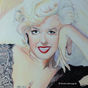 Marilyn Monroe, Öl auf Leinwand