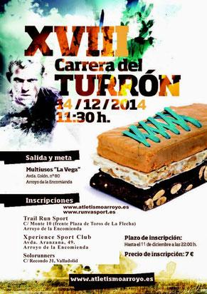 XVIII CARRERA DEL TURRÓN - Arroyo de la Encomienda, 14-12-2014