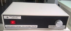 Réalisation Claude Gonon Microscopie d'une alimentation éclairage microscope 12v 100W