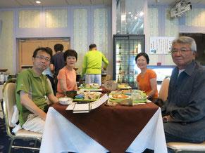 兼清夫妻とベイリゾート小豆島で食事