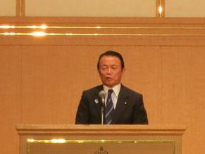 高野光二郎の応援演説をする麻生太郎副総理