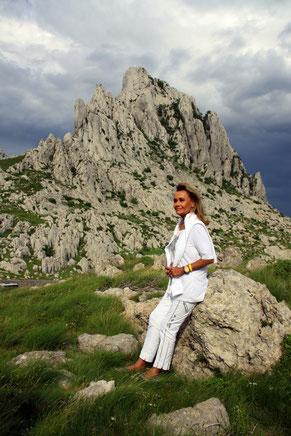 Beeindruckende Kulisse: Hella Brice verbrachte den ersten Todestag ihres Mannes am Mali Alan.