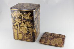 木製蒔絵付四段重の修理