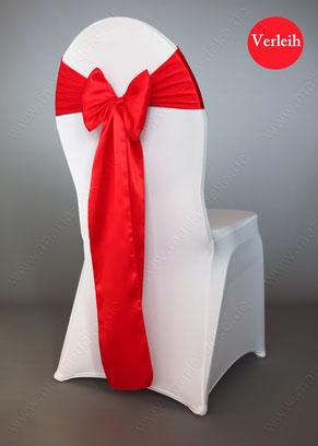 Stuhlschleifen in Farbe Rot mieten