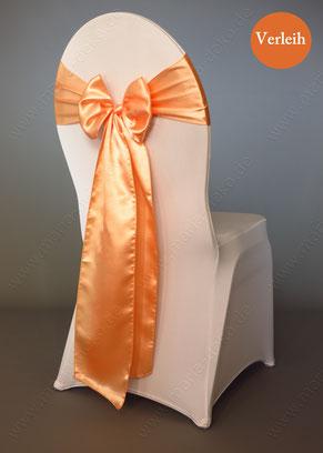 Stuhlschleifen in Farbe Pfirsich / Apricot mieten