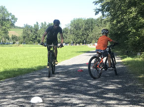 Fahrtraining im Mountainbike Kurs