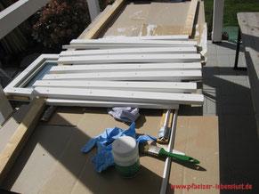 Rahmen für Fenster Holzhaus Serviettentechnik