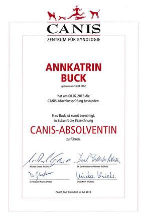 Canis Zentrum für Kynologie Absolventin Annkatrin Buck Geesthacht Hundeschule