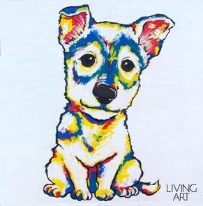 愛犬 犬 ペット ポートレイト 似顔絵 アート オーダー モダン