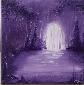 peinture peint a la main pourpre