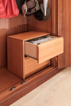 Guarda las bufandas en un cajón en vertical - AorganiZarte
