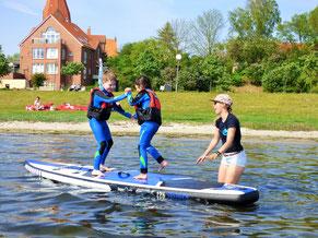 Stand Up Paddling Kurs im Salzhaff in Rerik-lerne jetzt surfen in der Surfschule rerik