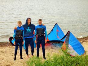 Kitesurfkurs in Rerik im Stehrevier der Surfschule am Salzhaff