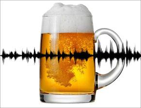 Beim Bier belauscht: Glas mit Soundspur