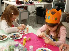Kindergeburtstag Prinzessinnen Party Schmuckworkshop Düsseldorf