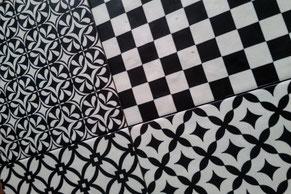 rivestimento pavimento bianco nero Patchwork - Ambienti24