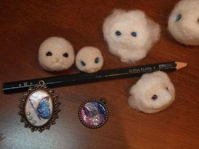 羊毛・レジン・・作りかけのモノ達